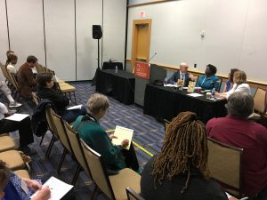 Marketing a First Book Nicole Dewey (Shreve Williams) & Jane Friedman (Open Road Integrated Media), writer Rosamond S. King CLMP AWP 2018
