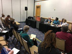 Marketing a First Book Nicole Dewey (Shreve Williams) & Jane Friedman (Open Road Integrated Media), writer Rosamond S. King CLMP AWP 2018