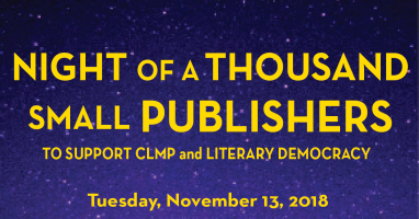 CLMP Gala Small Publishers Small Press Indie Literature Independent Literature Magazines