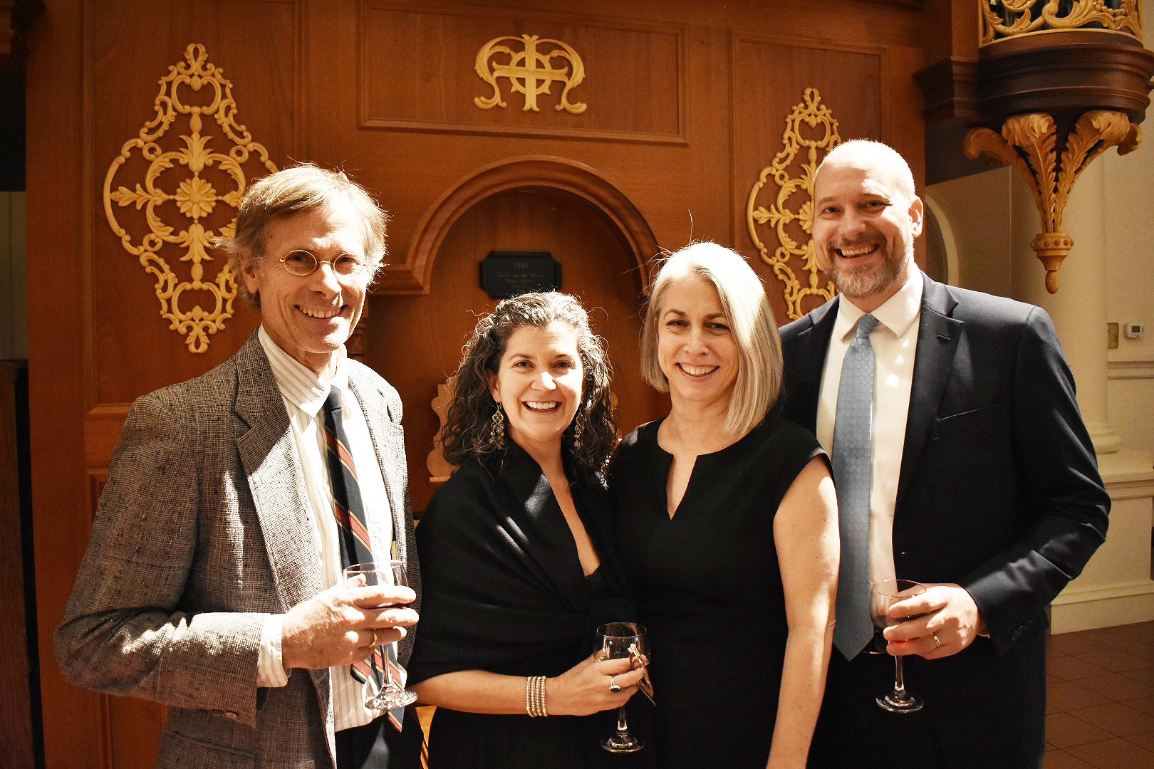 Guests John van Rens and Sarah Lutz, with CLMP Executive Director Mary Gannon and Poets & Writers Editor-in-Chief Kevin Larimer